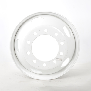 """29300PKWHT21 by ACCURIDE - Steel 22.5"""" x 9.00"""" Wheel - 5 Hand Holes - Powder Topcoat Coating Finish - White"""