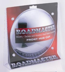 """209CD by ROADMASTER -  Chrome front hub cap with 6 multi-notch cutout, 3/8"""" lip & 1/2"""" extended height. Fits 4, 5 and 6 notch hubs, for steel wheels 8-23/32"""""""