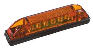 "1827A by ROADMASTER -  Amber 6 LED thin line clearance marker light 3-7/8""x11/16""x7/8"""