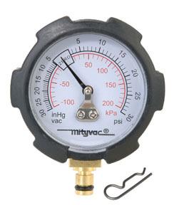 MVA6176 by MITYVAC - Compound Vacuum/Pressure Gauge, PSI/in-Hg