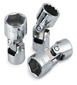 "40507 by SK HAND TOOL - 3/8"" Dr Flex 6 Pt  Socket Chrome, 7mm"