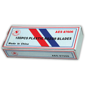 87606 by AES INDUSTRIES - Poly Razor Blades, Pack of 100