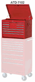 """7102RD by ATD TOOLS - TOOL BOX CHEST-26"""" 10-DRWR-RED"""