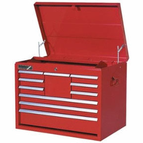 """7124RD by ATD TOOLS - TOOL BOX CHEST-26"""" 10-DRWR-RED"""