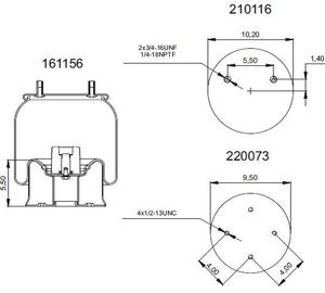 198755-CS by CONNECT AIR SPRINGS - Replacement Air Bag