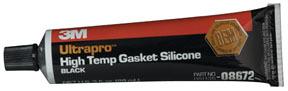8672 by 3M - Ultrapro™ High Temp Silicone Gasket 08672 Black, 3 oz Tube