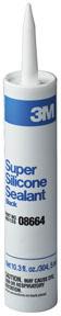 8664 by 3M - Super Silicone Seal 08664 Black, 1/10 gal cartridge