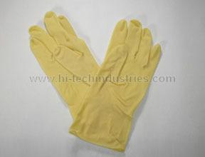 393-7 by HI-TECH INDUSTRIES - Light Duty Rubber Gloves- S