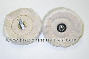 "7605 by HI-TECH INDUSTRIES - 3"" Mag Cotton Polishing Wheel"