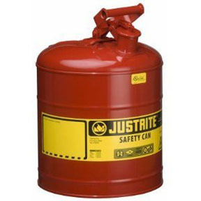 7150100 by JUSTRITE - 5 Gallon Type 1 Red Safety Can