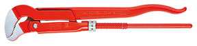 "8330010 by KNIPEX - Pipe Wrench Slim S-Type Serrated Jaw, 13"" Length"