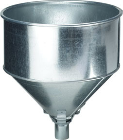 75-008 by PLEWS - Funnel, Galvanized, Tractor Lock-On With Screen, 8-Quart