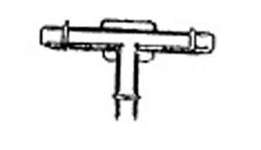 "2426 by W & E FASTENERS - 3/16"" X 3/16"" X 3/16"" Three Way Vacuum Tee"