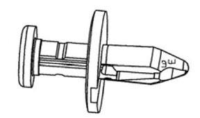 3244 by W & E FASTENERS - Plastic Push Rivet- Fender Liner/ Radiator Shield Retainer