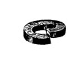 """4212 by W & E FASTENERS - 5/16"""" Zinc Plated Spring Type Lock Washer"""