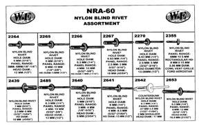 NRA-60 by W & E FASTENERS - Nylon Blind Rivet Assortment