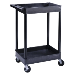 TC11 by LUXOR - 2-Shelf Plastic Utility Cart