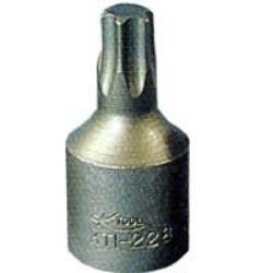 """KTI-21815 by K-TOOL INTERNATIONAL - 1/4"""" Drive Chrome Vanadium Steel Internal Torx Socket, T-15"""