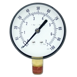 """21001 by STAR PRODUCTS - 2-1/2"""" Replacement Gauge for STATU113, 100 PSI"""
