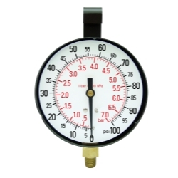 """21003 by STAR PRODUCTS - 3-1/2"""" Replacement Gauge, 100 PSI"""