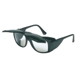 S213 by UVEX - Horizon™ Flip Up Safety Glasses with Black Frames with Shade 5.0