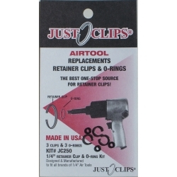 """250-5 by JUST CLIPS - 1/4"""" Anvil Retainer Clip Refill Pack, 5 Pack"""