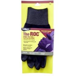 ROC20TM by MAGID GLOVE & SAFETY MFG.LLC. - The ROC™ Polyurethane Coated Palm, Black Nylon Shell Glove - Medium