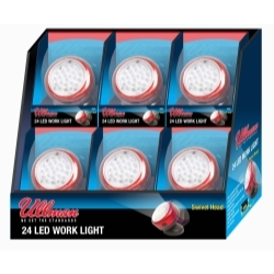 RT2LT6PK by ULLMAN DEVICES - Rotating Magnetic LED Work Light - 6-Pack Display