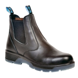 """BTST10 by BLUE TONGUE - Black 6"""" Slip On Boot, Size 10"""