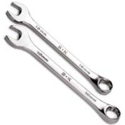 88717 by SK HAND TOOL - Combination Long Full Polish 12 Pt Wrench 17mm