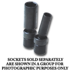 "33382 by SK HAND TOOL - 3/8"" Dr Flex Deep Impact Socket 12mm"