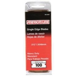 66-0448 by AMERICAN SAFETY RAZOR CO. - American Line .012 Heavy Duty Single Edge Blade