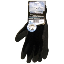 408WTL by MAGID GLOVE & SAFETY MFG.LLC. - Black Winter Knit, Latex Coated Palm Gloves - Large