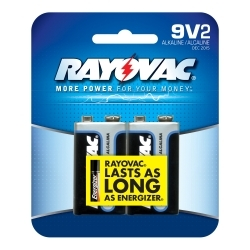 A1604-2F by RAYOVAC BATTERIES - 9V Alkaline Battery - 2 pack