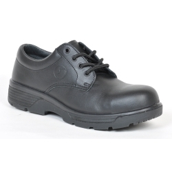 BTCC8 by BLUE TONGUE - Black oxford style low cut shoe with Composite Toe