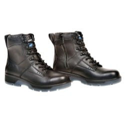 "BTCP12 by BLUE TONGUE - Black 6"" Lace up Side Zipper Composite Toe Boot"