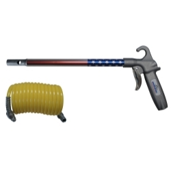 "75LJ012AAUSNH by GUARDAIR - Long John US Flag Safety Air Gun with 12"" Extension and Nylon Air Hose"