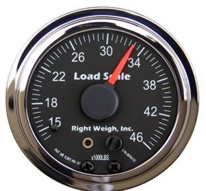 510-46-C by RIGHT WEIGH - Onboard Load Scale Interior mount Chrome Bezel