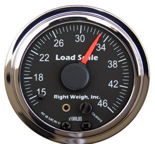510-46-C by RIGHT WEIGH - In-dash with Chrome bezel seven color LED backlight