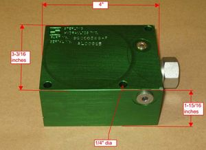 9S000586-F by PARKER HANNIFIN - VALVE BLOCK ONLY, JIB ATTACH.