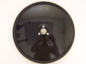 "11103 by CHAM-CAL - 12"" Convex Mirror, Painted Black"