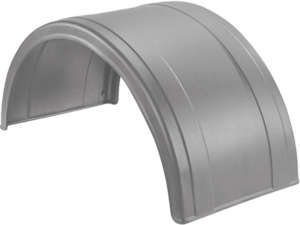 5005-2-1 by FLEETLINE - POLY ROUND FENDER SILVER 2 RIBS