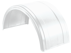 5005-3-1 by FLEETLINE - POLY ROUND FENDER WHITE 2 RIBS