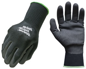ND-05-540 by MECHANIX WEAR - Knit Nitrile Coating Gloves, Large/XL