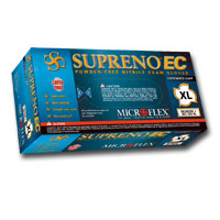 SEC375L by MICROFLEX - Supreno® EC Powder-Free Extended Cuff Nitrile Examination Gloves, Blue, Large