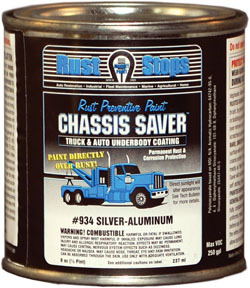 UCP934-16 by MAGNET PAINT CO - Chassis Saver Paint, Stops and Prevents Rust, Sliver-Aluminum, 8 oz Can