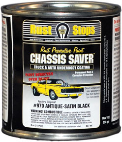 UCP970-16 by MAGNET PAINT CO - Chassis Saver™ Antique Satin Black, 1/2 Pints