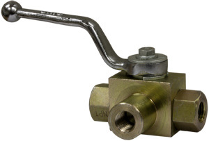 HBV3W025 by BUYERS PRODUCTS - VALVE,BALL 3 WAY,1/4in 5800 PSI