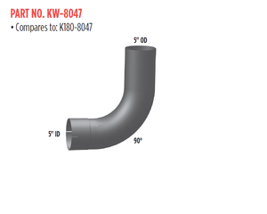 KW-8047 by GRAND ROCK - REP K180-8047 90 DEG ELBOW 5""