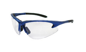 540-0700 by SAS SAFETY CORP - Blue Frame DB2™ Safety Glasses with Clear Lens